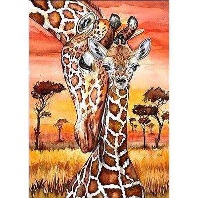Collection D'Art Diamond Embroidery/Printed/Gem Kit 27X38cm-Giraffes
