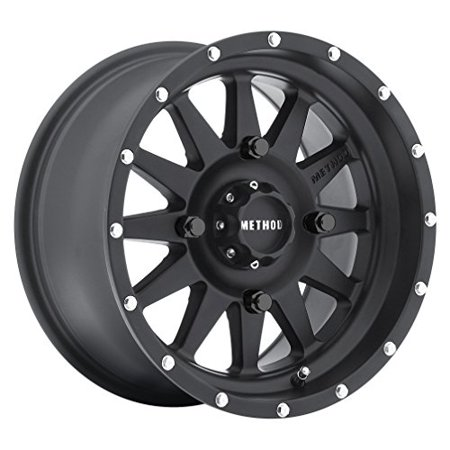Method Race Wheels The Standard Matte Black Wheel with Stainless Steel (Stainless Steel Black Accent)