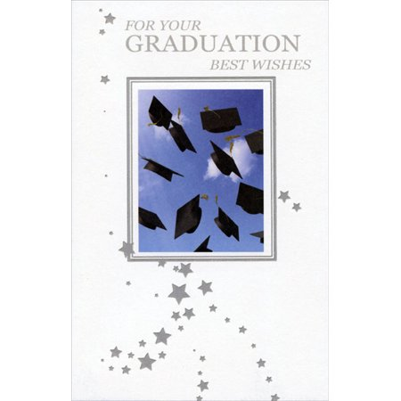 Graduation Cap Card Box (Freedom Greetings Grad Caps and Silver Foil Stars Graduation)