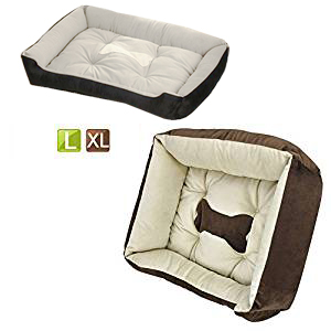 Yaheetech Rectangle Pet bed Pets Cushion Dog Cats Puppy Bed Large, Completely Machine Washable