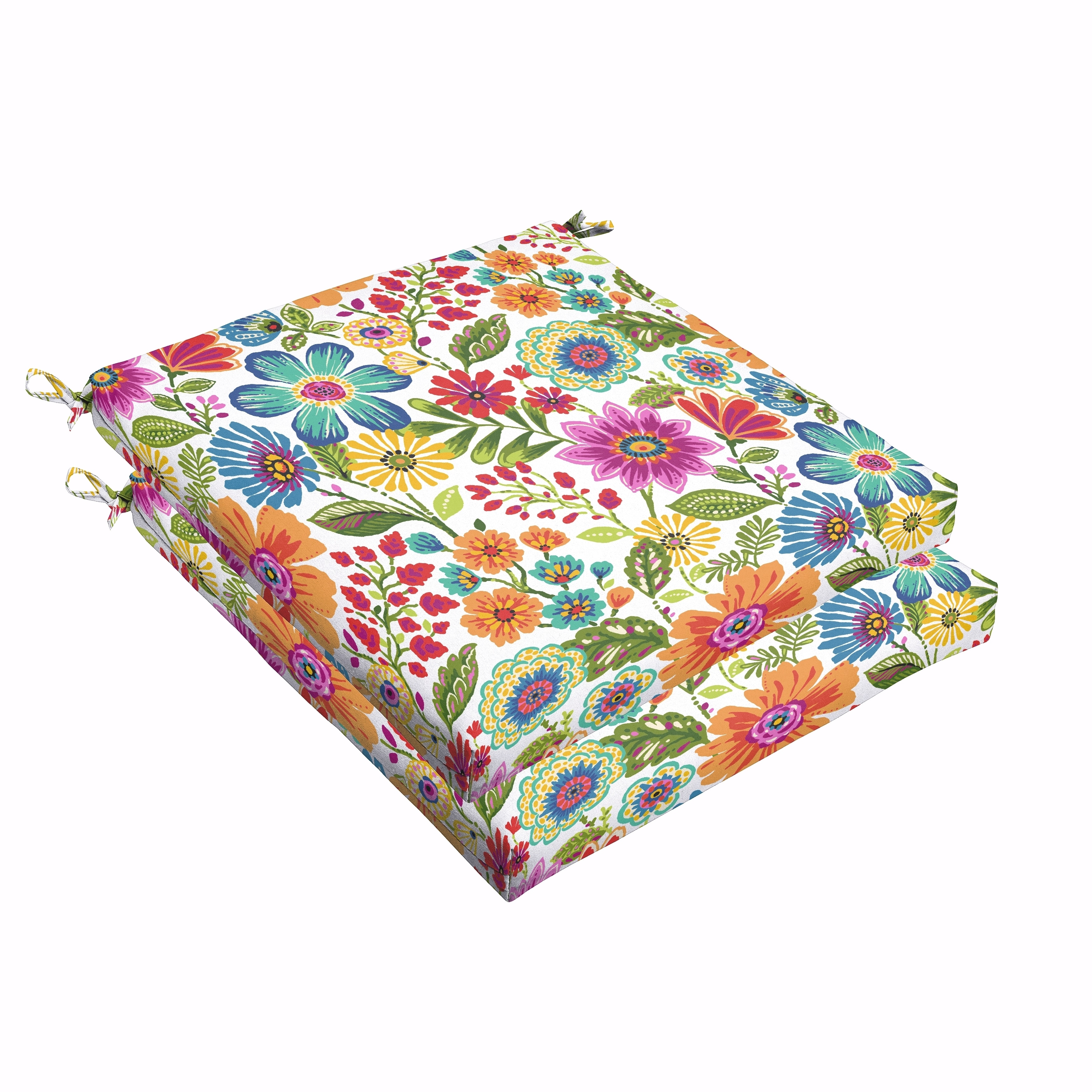 Humble and Haute Galliford Multi Floral Indoor/ Outdoor Chair Bristol Cushion Set