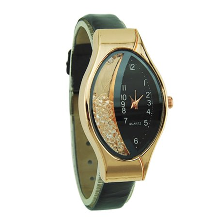 New Fashion Design Floating Stones Patten Leather Style Band Artistic Woman (Leather Band Stones)