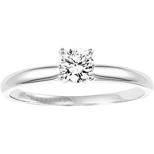 Keepsake Endless Brilliant 1/3 Carat T.W. Diamond 10kt White Gold Engagement Ring