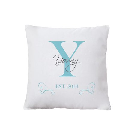 T/s Pakistan Green (Personalized Family Initial and Name Throw Pillow,)