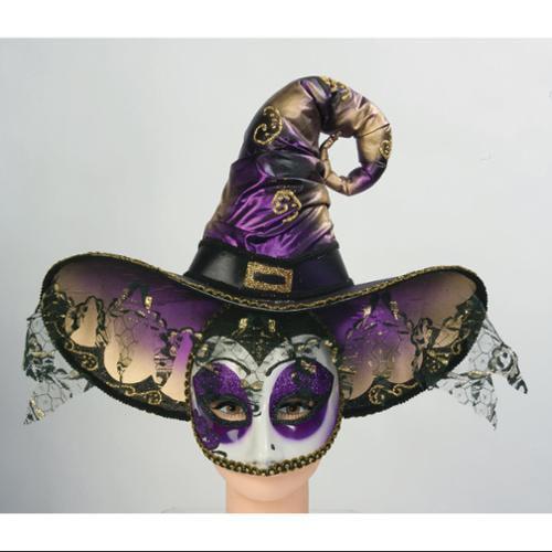 Venetian Witch Mask Hat Masquerade Mardi Gras Masquerade Costume Accessory