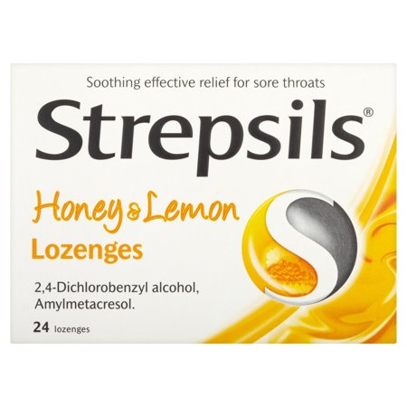 1d5bbbb4d Strepsils Honey and Lemon Lozenges - 24- Pack - Walmart.com