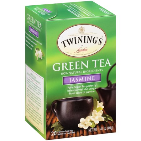 (4 Boxes) Twinings of LondonÃÂî Jasmine Green 20 ct Tea Bags 1.41 oz. Box