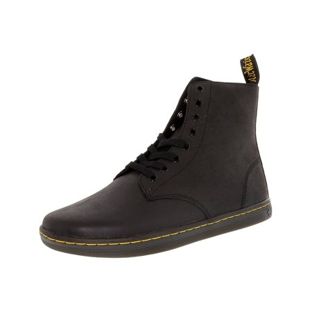 Dr. Martens Men's Tobias Black High-Top Leather Fashion Sneaker - - Kids Floral Dr Martens