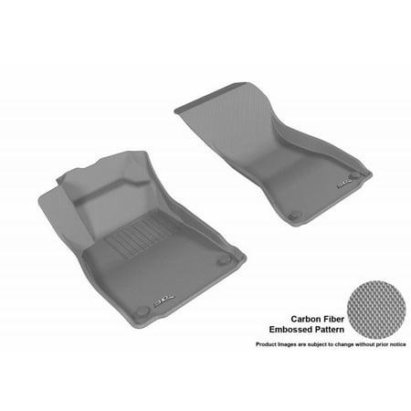 Audi S5 Cabriolet - 3D MAXpider 2017-2018 Audi A4 S4 2018 A5 A5 Cabriolet S5 S5 Cabriolet Kagu 1st Row Gray Carbon Fiber Embossed Pattern Floor Mat L1AD04211501
