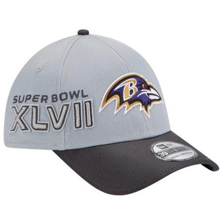 New Era Baltimore Ravens Super Bowl XLVII Champions Youth 39THIRTY Trophy Collection Flex Hat - Gray Charcoal - OSFA Baltimore Ravens Super Bowl Champions