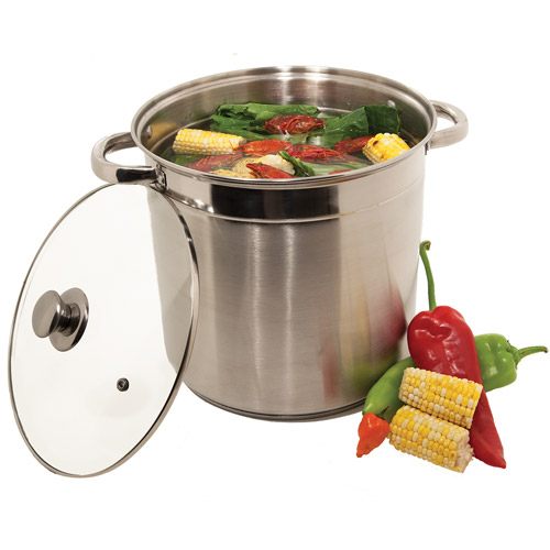 Heuck 12-Quart Encapsulated Bottom Stockpot with Glass Lid, Stainless Steel