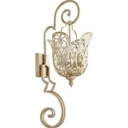 Quorum Le Monde 4 Light Wall Mount in Aged Silver Leaf