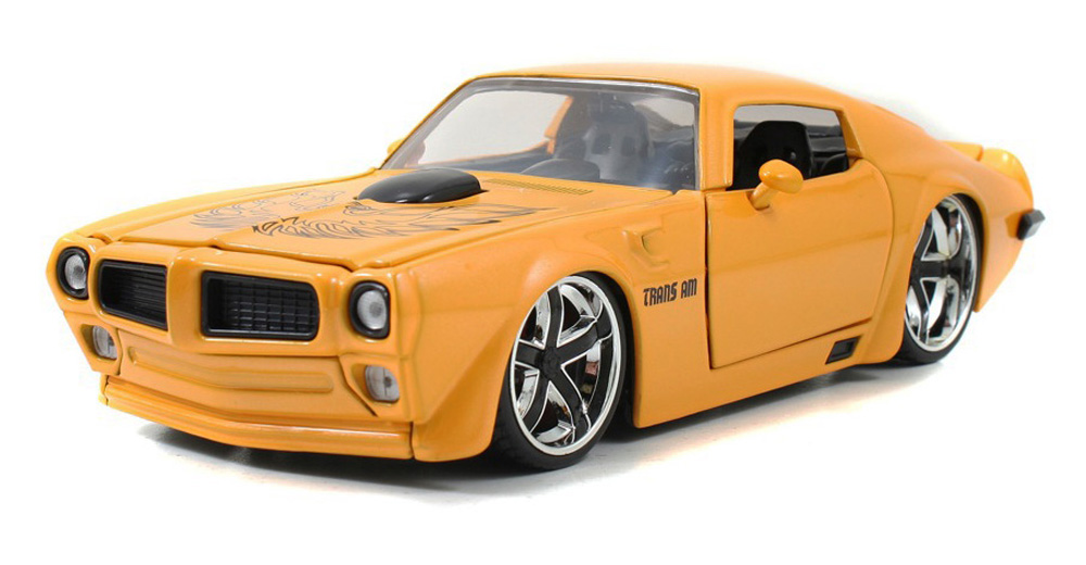 1972 Pontiac Firebird Trans Am, Yellow Jada Toys Bigtime Muscle 96798 1 24 scale Diecast... by Jada