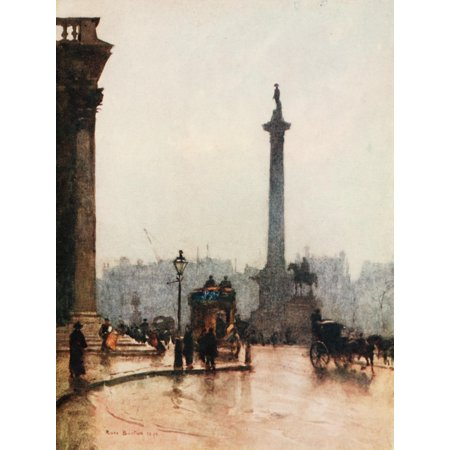 Peeps at Great Cities London 1911 Nelsons Column Canvas Art - Rose Barton (24 x 36)](Pink Peeps)