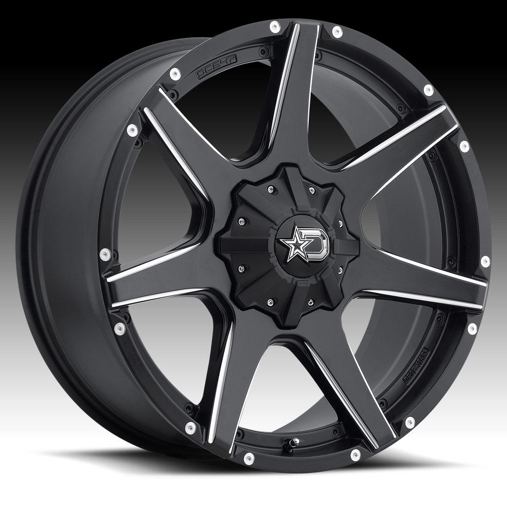 Dropstars 647BM Satin Black Milled 18x9 6x135 / 6x5.5 0mm...