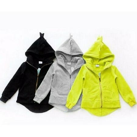 Aivtalk Boys Long Sleeve Dinosaur Hoodies Kids Sweatshirt Toddler Pullover Jacket 1-6T