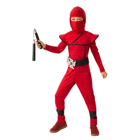 Boys Stealth Ninja Red Halloween Costume - Halloween Costume Red Hat