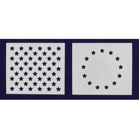 US / American Flag Mini-Stencils - 13 Star Revolutionary War & 50 Star Field stencils - 3.5