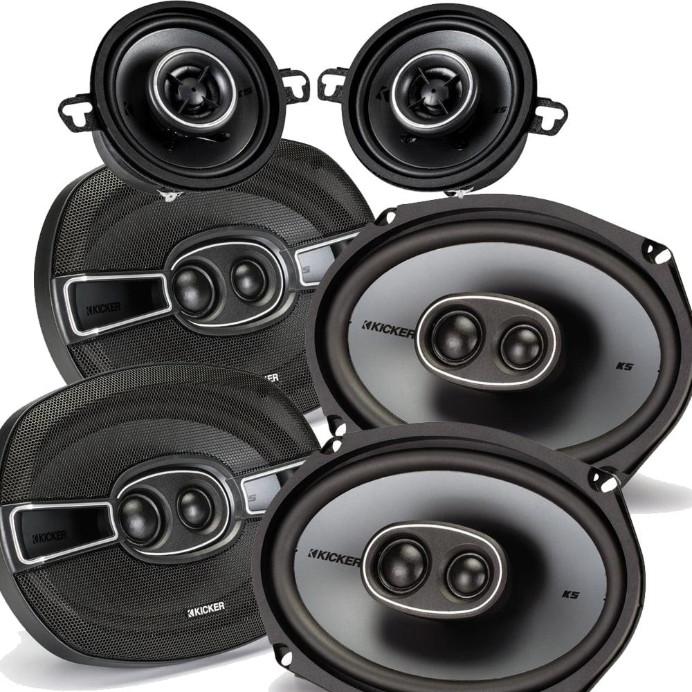 """Kicker for Dodge Ram Crew Cab 2012 & up speaker bundle- 2 pairs of KS 6x9"""" speakers, & a pair of KS 3.5"""" speakers"""
