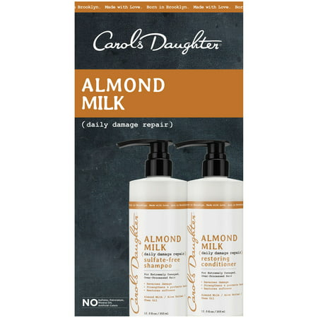 carols daughter almond milk shampoo & conditioner
