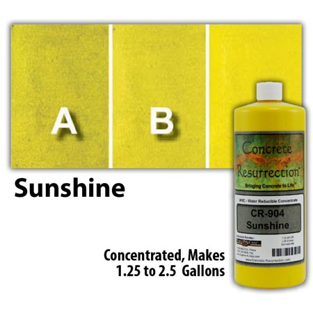 - Concrete Resurrection Eco and Environmentally Friendly Concrete Stain Sunshine Yellow
