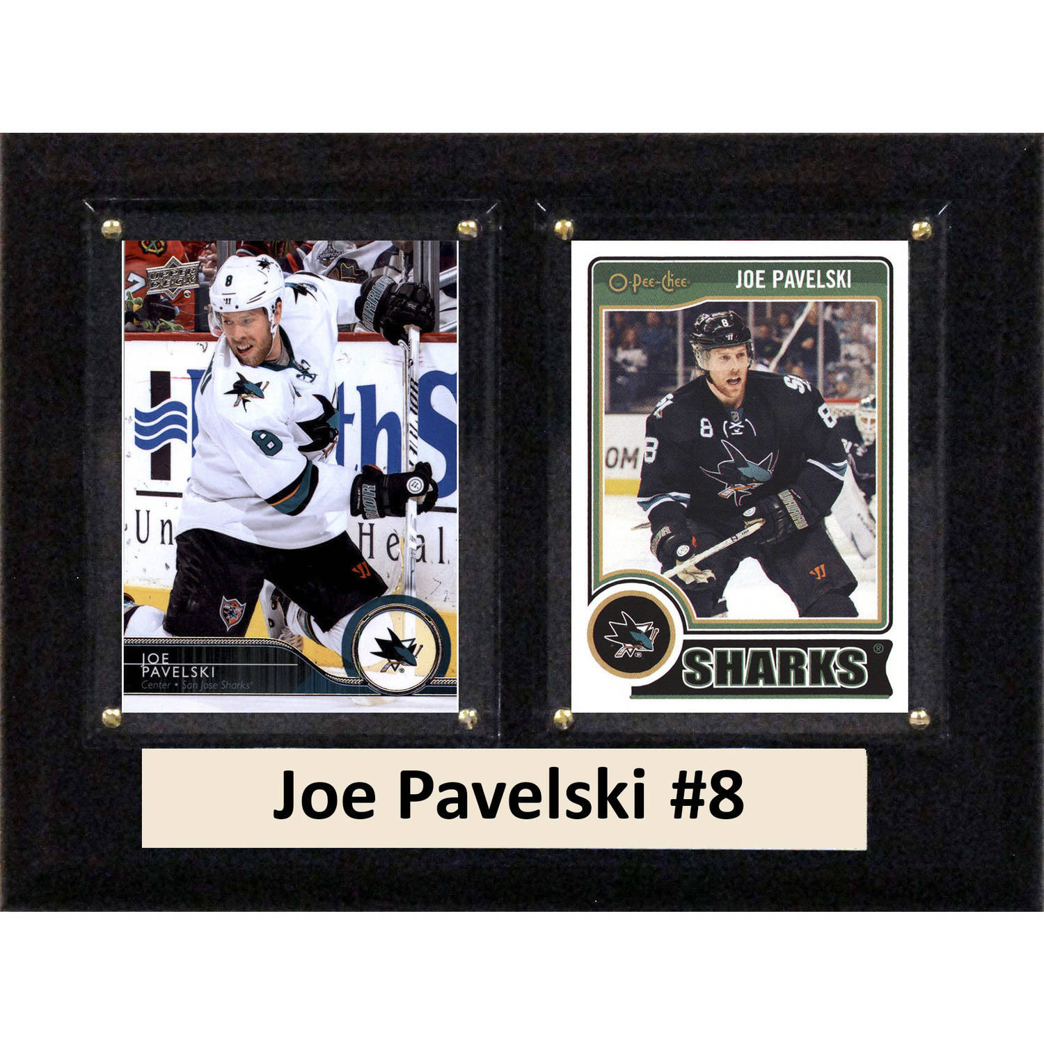"C & I Collectables NHL 6"" x 8"" Joe Pavelski San Jose Sharks Two-Card Plaque"