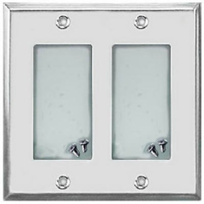 Deerfield 8CS127 Pro-Plate Steel Double Rocker/GFI Wall Plate, Chrome, T is Pro-Plate Chrome Steel Double Rocker/GFI Wall Plate By Jackson Ship from US
