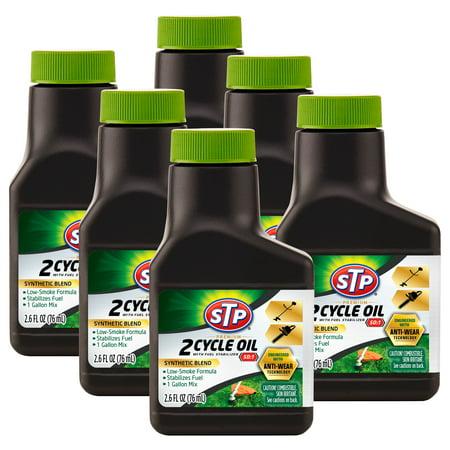 STP Premium 2-Cycle Oil with Fuel Stabilizer 50:1, 1 gallon mix (2.6 fluid ounces) (6