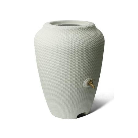 Algreen Wicker 50 Gallon Rain Barrel, White Sand ()