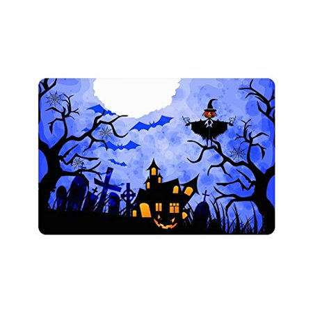 CADecor Door Mat Home Decor Halloween Starry Night Indoor Outdoor Entrance Doormat 23.6x15.7 - Halloween Entrance