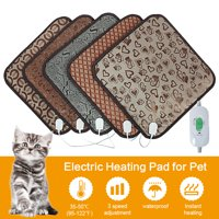 Pet Cat Dog Heating Pad - Heated Pad for Pets - Warming Mat for Dogs - Pet Electric Heat Bed with Adjustable Temperature, Chew Resistant Steel Cord (Random Delivery)