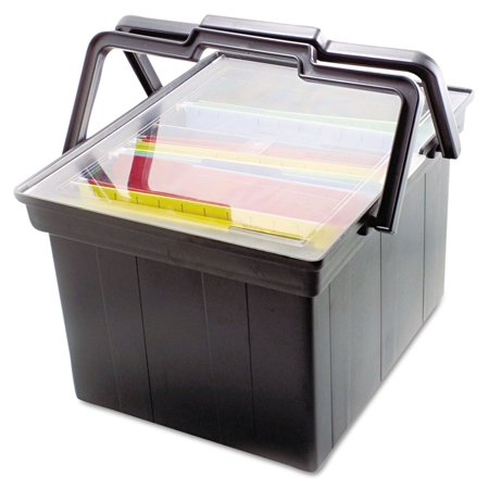 - Product of Advantus® Companion Letter/Legal Portable File Storage Box - Black - Filing Cabinets [Bulk Savings]