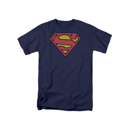 Superman T Shirts (Superman DC Comics Distressed Shield Adult T-Shirt)