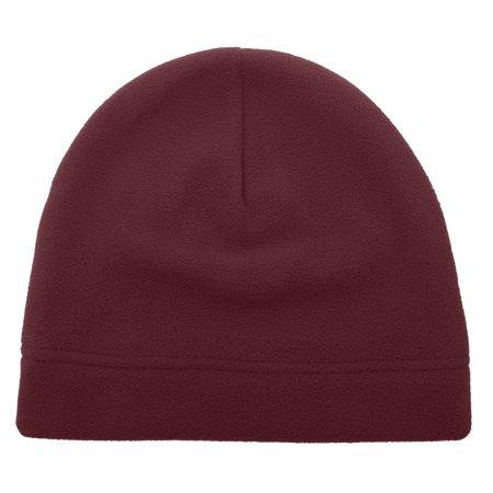 Opromo Men's Fleece Beanie Hat Soft Warm Winter Windproof Under Helmet Skull Cap