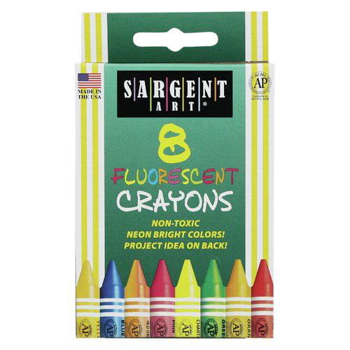 Sargent Art Inc Sargent Art Crayons Fluorescent 8