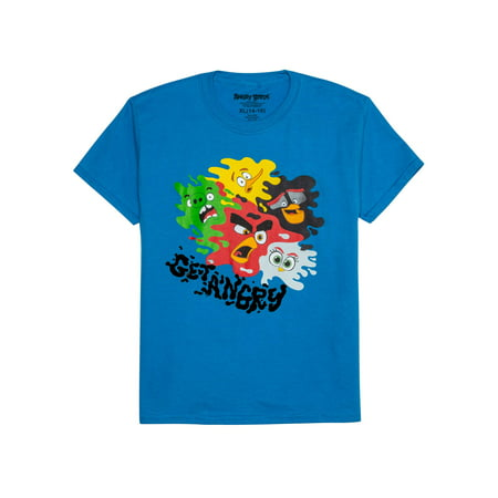 Angry Birds Get Angry Splatter Characters Short Sleeve Graphic T-Shirt (Little Boys & Big Boys) Big Short Clothing