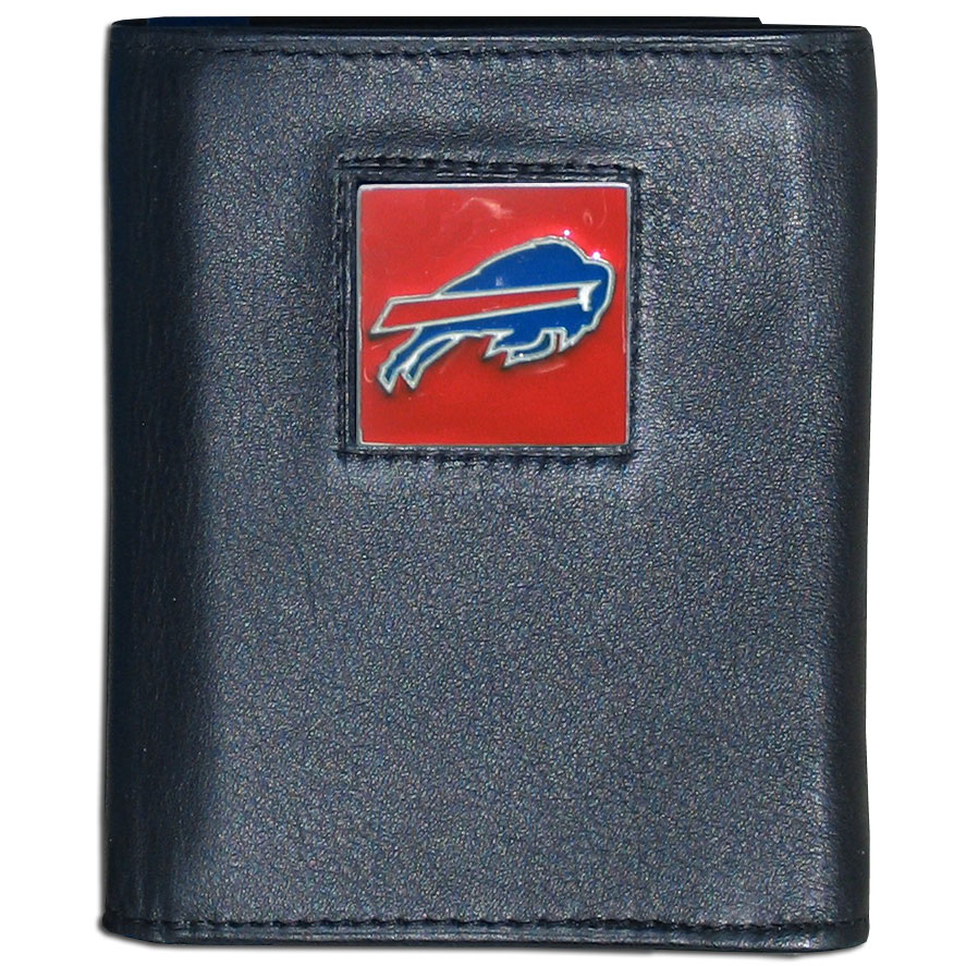 Buffalo Bills Official NFL  Leather Trifold Wallet in Tin by Siskiyou