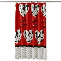 Mickey & Minnie Luv U More Shower Curtain