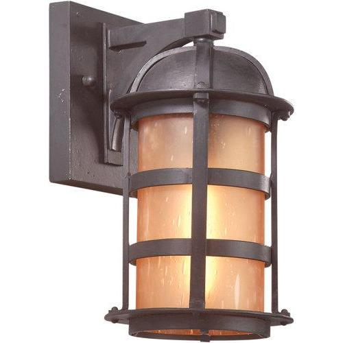 """Troy Lighting B9250NB Aspen 1 Light 11"""" Outdoor Wall Sconce with Seedy Glass, Natural Bronze"""