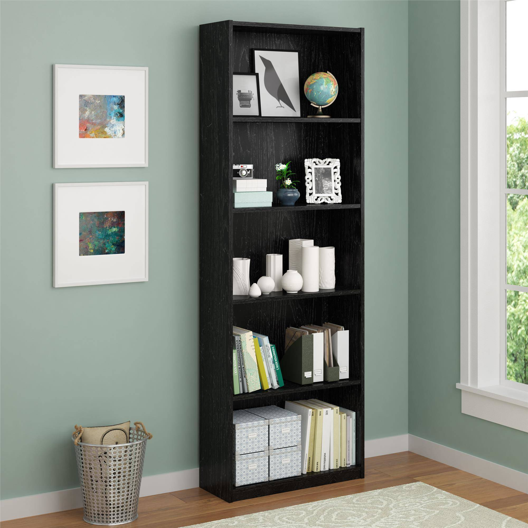 Ameriwood 5-Shelf Bookcase, Multiple Colors