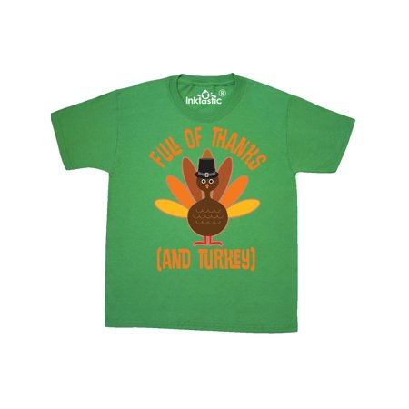 Thanksgiving Dinner Holiday Turkey Youth T-Shirt (Thanksgiving For Kids)