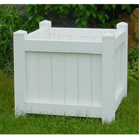 Image of All Maine Bucket D004PW 24 Inch Cube Planter - Painted White