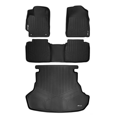 Maxliner 2017 Toyota Camry New Body Style Floor Mats Maxtray Cargo Liner Complete Set Black A0204 B0102 D0204
