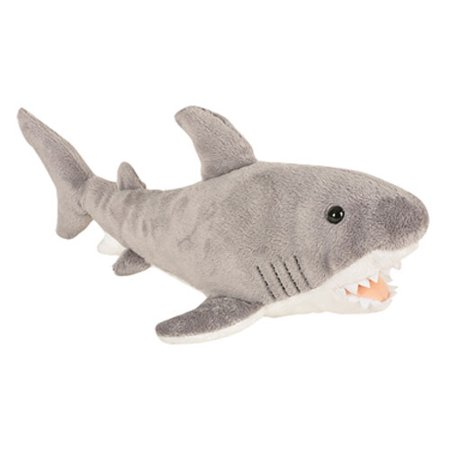 Adventure Planet Plush Animal Den - GREAT WHITE SHARK (14 inch)