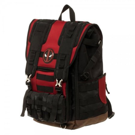 Deadpool Tactical Roll Top Backpack - Deadpool Book Bag
