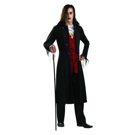 Royal Vampire Red & Black Dracula Costume Adult Standard (Diy Dracula Costume)