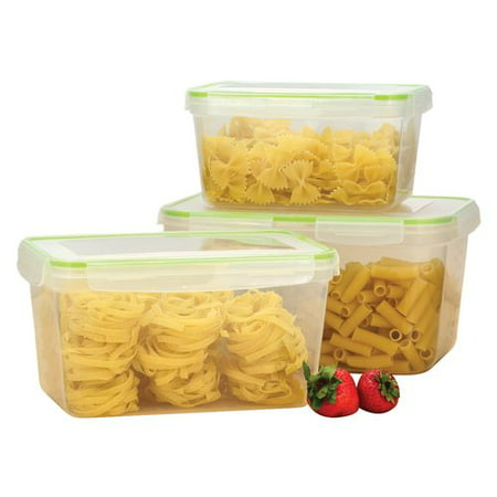 Gourmet Home Products Click and Lock 6 Container Food Storage Set Home Gourmet Food