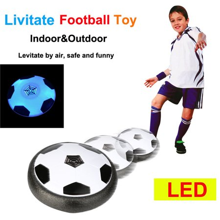 Mosunx LED Air Power Training Ball Soccer Football Goal Set Hover Ball With 2