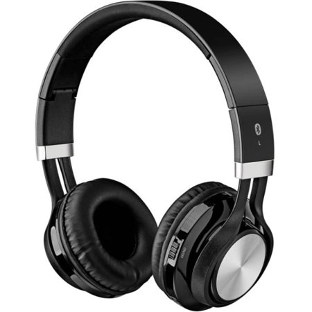 ilive iahb56b bluetooth wireless headphone with microphone black. Black Bedroom Furniture Sets. Home Design Ideas