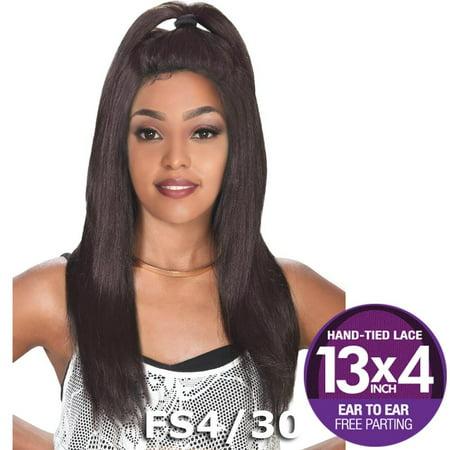 "Sis Prime Human Hair Blend 13""X4"" Lace Front Wig - BIZ (1b Off Black) African Pride Blends"